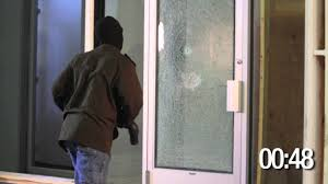 sliding glass door protection 3m safety u0026 security film s140 demonstration youtube