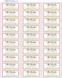 printable address labels pink gold avery compatible nifty