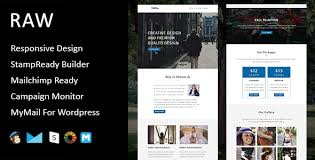 raw multipurpose responsive email template stampready builder
