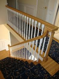 Banister Newel Staircase Spindles Wood Banister Newel Post Handrail And Spindles