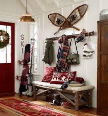 Pottery Barn Burlington Vt Christmas Styles Pottery Barn Luxe Ski Lodge Rustic Red