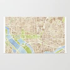 dc rug washington d c district of columbia city street map art rug