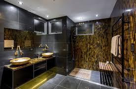 Home Design Gold Black And Gold Bathroom Tiles Captivating Interior Design Ideas