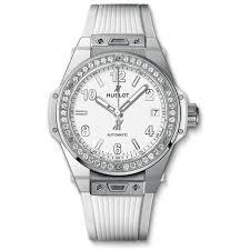 big bang steel white diamonds 39mm