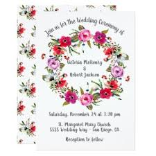 style flower watercolor floral boho wreath wedding card floral style flower