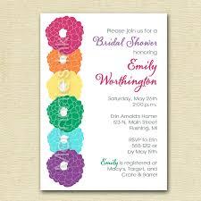 rainbow peony bridal shower invitation printable invitation