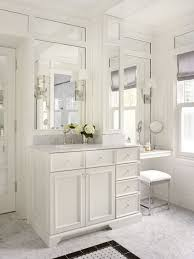 adorable traditional bathroom with makeup vanity table set with