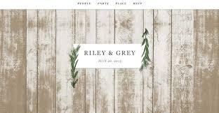 bridal websites modern chic wedding websites by grey