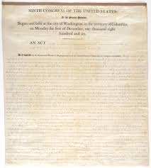 thanksgiving proclamation 1789 an act of march 2 1807 9th congress 2nd session 2 stat 426 to