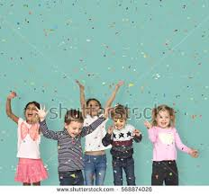 children smiling happiness friendship celebration stock photo