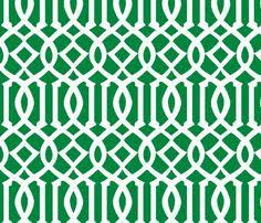 Green Trellis Fabric Imperial Trellis Kelly Green Large Fabric By Melberry On