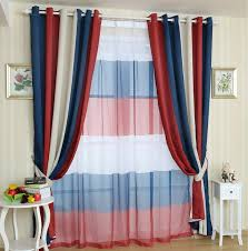fantastic red white and blue curtains and playfully colorful