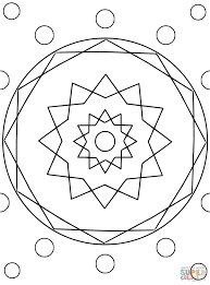 snowflakes mandala coloring page free printable coloring pages