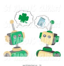 royalty free st patricks day day robot stock st paddy u0026s day designs