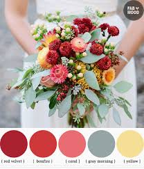 fall wedding color palette autumn wedding bouquets ideas fall wedding bouquet colors