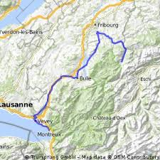map of montreux cycling routes and bike maps in and around montreux bikemap