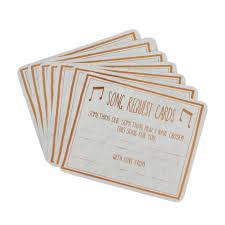 wedding song request cards song request cards set of 8