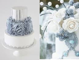 Christmas Cake Decorations Silver silver grey wedding cake by sharon wee left and on the right