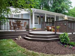 Backyard Deck And Patio Ideas by Stylish 13 Front Yard Deck Ideas On Outdoor Photos Landscape Patio