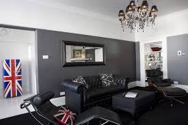 black wood living room furniture multi metallic abstract wall