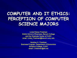 Cuny Anatomy And Physiology Computer And It Ethics Perception Of Computer Science Majors