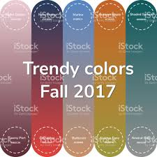 2017 Trending Colors by Vector Illustration Infographics Trendy Colors Of The 2017 Fal