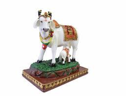 Cow Home Decor Kamdhenu Cow And Calf Resin Statue Lxhxw Cm U003d 19x20x11 5