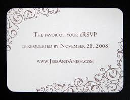 rsvp cards for wedding designing invitation enclosures for wedding events