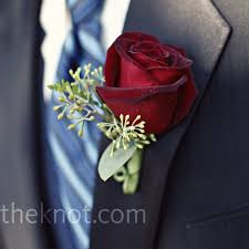 Rose Boutonniere Red Rose Boutonniere