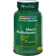 rainbow light vitamins mens rainbow light certified organics men s multivitamin 120 vegetarian
