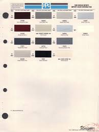 infiniti paint chart color reference