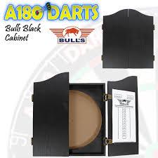 black dart board cabinet bulls black wooden dartboard cabinet