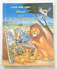 lion king book hardcover ebay