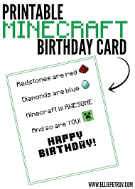 Minecraft Invitation Cards Minecraft Birthday Party To Go