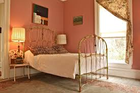 wrought iron bed frames bedroom traditional with black lampshade