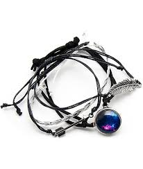 bracelet braid images Stone locket braid galaxy arrow bracelet pack zumiez jpg