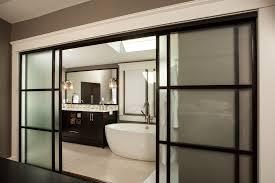 Asian Closet Doors Diy Sliding Bathroom Door Bathroom Contemporary With Large Sliding