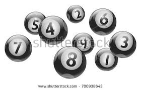 set black white lottery balls bingo stock vector 645768058