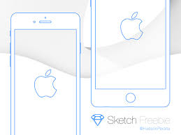 apple iphone 6 and 6 plus wireframe sketch freebie download free