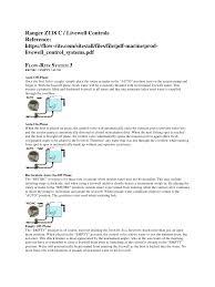 ranger z118 c livewell controls pdf pdf archive