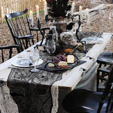 Halloween Fun House Decorations Decor Haunted House Decorations Design Backyard With Tables And