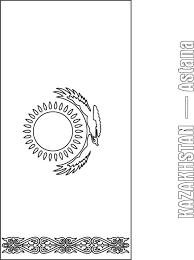 kazakhstan flag coloring page download free kazakhstan flag