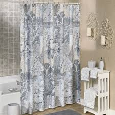 Gray And Brown Shower Curtain - heirloom floral damask shower curtain