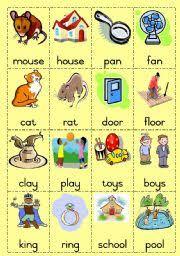 worksheet rhyming words game page 1