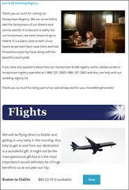 wedding travel registry honeymoon registry