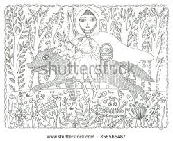 wolf animal wildlife coloring stock illustration 319821200