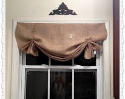 Wide Rod Valances Burlap Valance Etsy