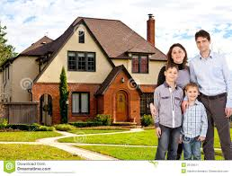 Family Home Happy Family And House Stock Image Image 29128511