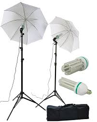 led studio lighting kit 2 x 120 led photography video studio photo umbrella lighting light kit