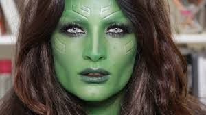 halloween airbrush makeup gamora u0027guardians of the galaxy u0027 halloween makeup youtube